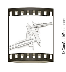 Calipers on a white background. The film strip