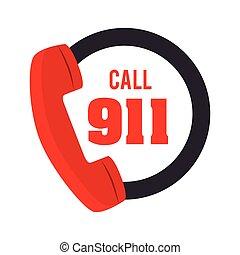 call 911 fire equipement service emergency