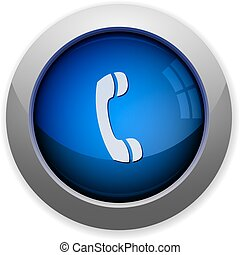 Call button - Blue glossy call web button
