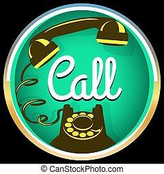 Call button retro phone
