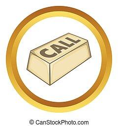 Call button vector icon