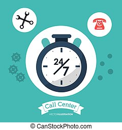 call center 24h all time service