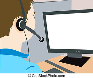 Call center Agent - Call center agent illustration