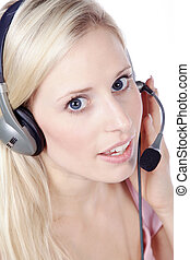 call center agent in the service