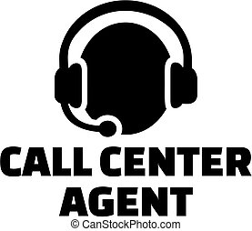 Call center agent with icon