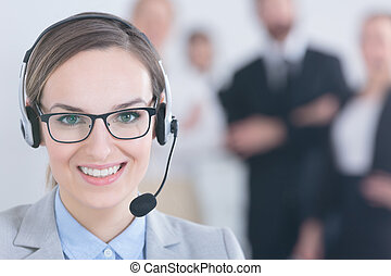 Call center agent with team