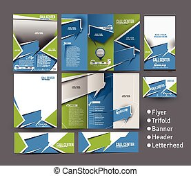 Call Center Business Stationery