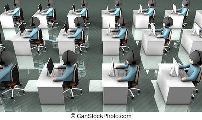"""""""Call center concept animation, assistance, helpdesk, information."""""""