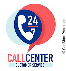 Call center customer service 24 7 clients support or hotline...