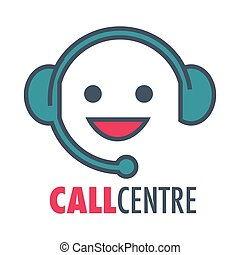 Call center customer support service vector icon