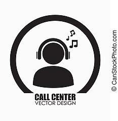 Call center design over white background,vector illustration