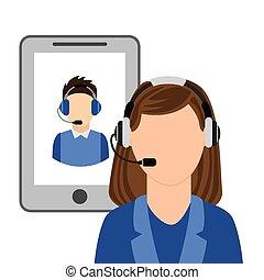 call center design, vector illustration eps10 graphic