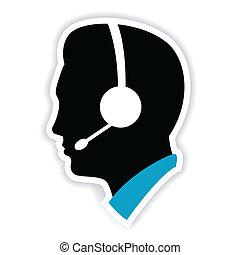 Call Center Executive - illustration of call center...