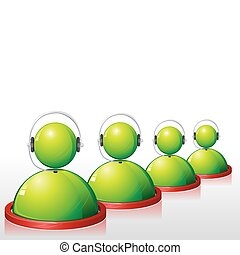 Call Center Executive - illustration of executive of call...