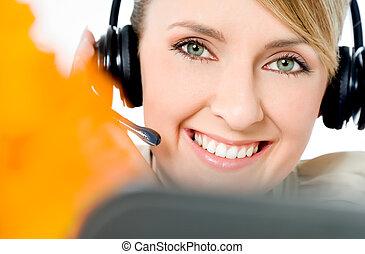 call center friendly operator
