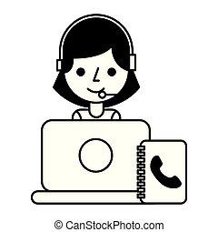 call center girl lapopt address book