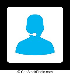 Call Center Icon from Commerce Buttons OverColor Set