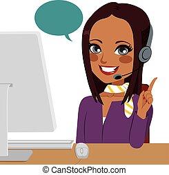 Call Center Indian Woman
