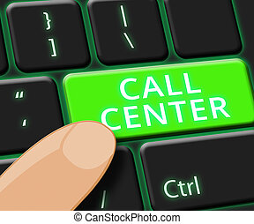 Call Center Key Shows Customer service 3d ILlustration