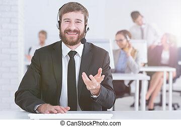 Call center man