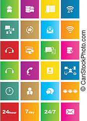 call center metro style icon sets - suitable for user ...