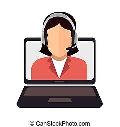 call center online support design