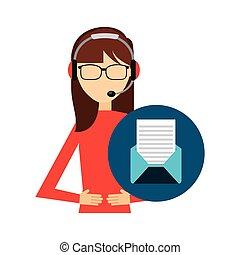call center operator avatar vector illustration design