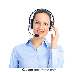Call Center Operator - Beautiful call center operator with ...