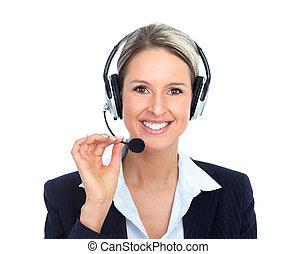 Call Center Operator - Beautiful call center operator with ...