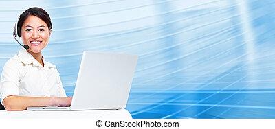 Call center operator business woman. - Call center operator ...