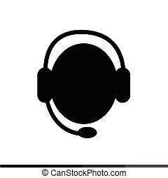call center operator icon Illustration design