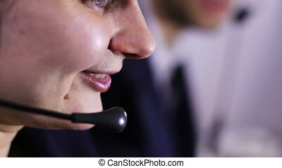 Call Center Operator - Support of customer service. Girl and...