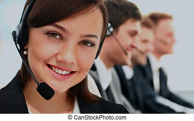 Call Center, Operator, Women.