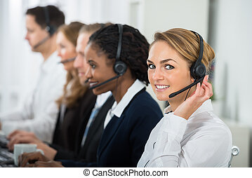 Call Center Operators In Office