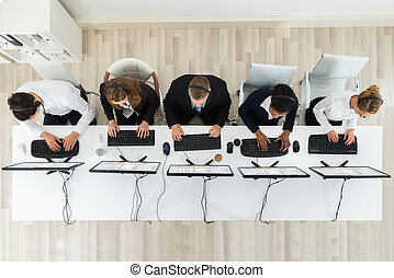 Call Center Operators Working In Office
