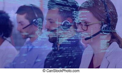 Call center representatives and program codes