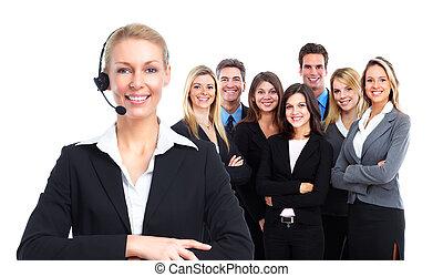 Call center secretary woman.