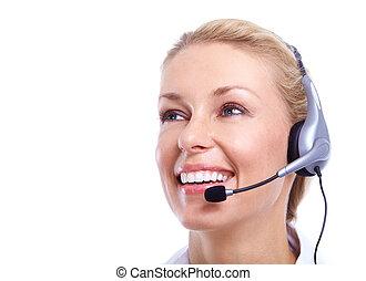 Call center secretary woman. - Call center secretary woman...