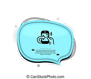 Call center service icon. Share phone call sign. Vector