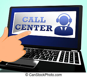 Call Center Showing Customer Service 3d ILlustration