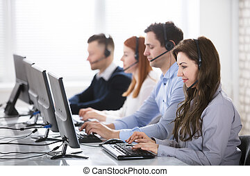 Call Center Team In Office