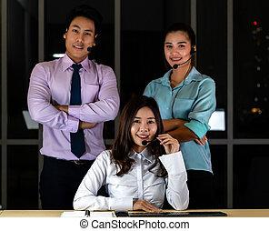 Call center team Portrait