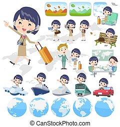 Call center woman_travel