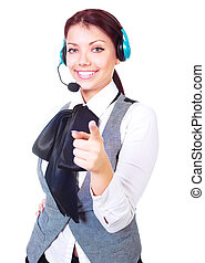 call-center worker