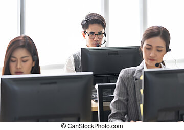 call Centre working