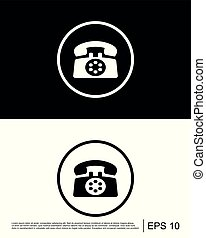 Call, contact us, phone icon