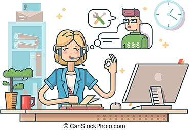 Call customer support. Operator to communicate with client. ...
