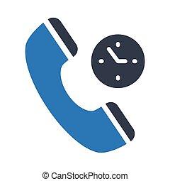 call duration glyph color vector icon