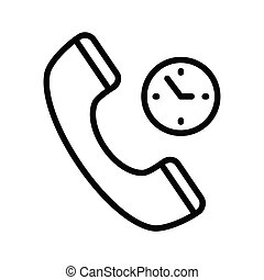 call duration thin line vector icon