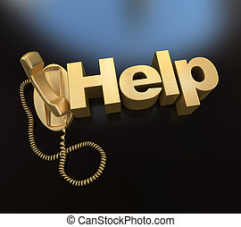 Call for help in gold